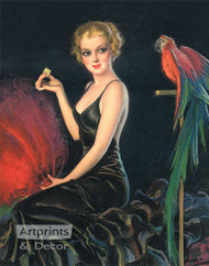 Red Feathers and a Cracker by Bradshaw Crandell - Art Print
