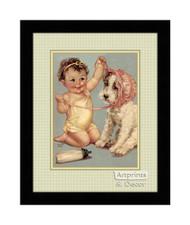 The Pink Bonnet - Framed Art Print