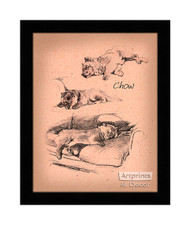 Chows - Framed Art Print