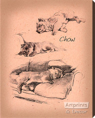 Chows - Stretched Canvas Print