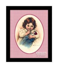 The Little Mother - Framed Art Print