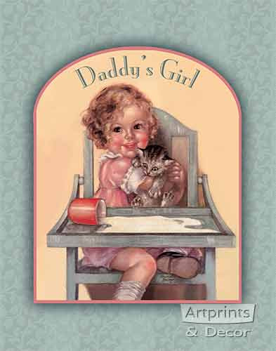 Daddy's Girl by Charlotte Becker - Framed Art Print