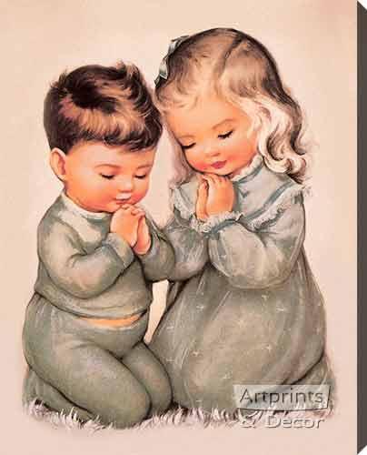 ...Amen - Stretched Canvas Art Print