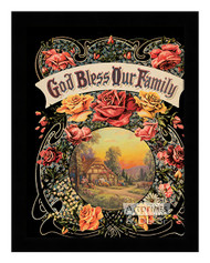 God Bless our Family - Framed Art Print