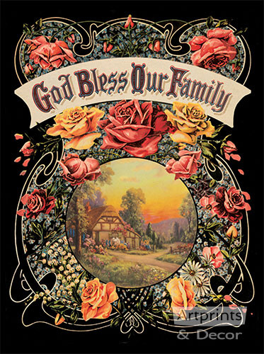 God Bless Our Family - Art Print