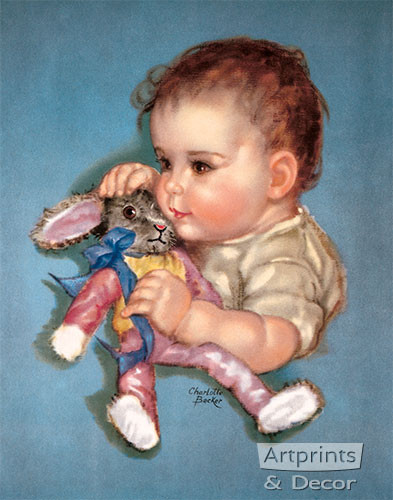Daddy's Sweetheart by Charlotte Becker - Art Print
