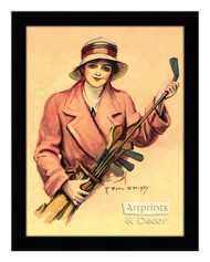 The Golfer Wore Pink - Framed Art Print