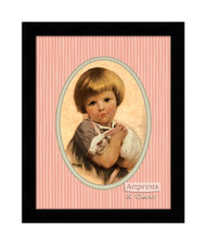 The White Bunny - Framed Art Print