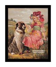 Wendy & Her Dog - Framed Art Print