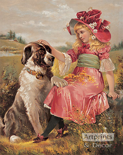 Wendy & Her Dog - Art Print