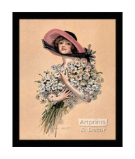 Wearing Daisies - Framed Art Print