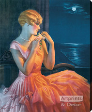 Moonlight & You - Stretched Canvas Print