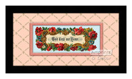 God Bless our Home III - Framed Art Print