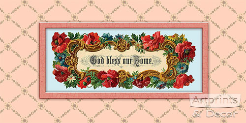 God Bless our Home III - Art Print