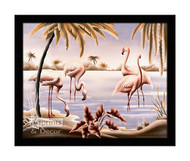Flamingo Tango - Framed Art Print