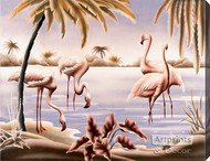 Flamingo Tango - Stretched Canvas Print