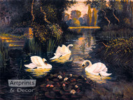 Swan Lake by S. C. Morley - Art Print