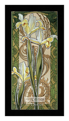 Stylized Yellow Irises - Framed Art Print
