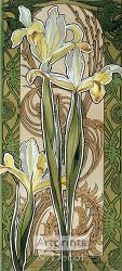Stylized Yellow Irises - Art Print