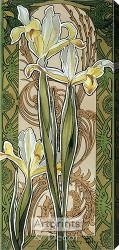 Stylized Yellow Irises - Stretched Canvas Print