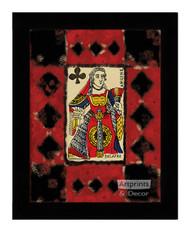 Queen of Clubs - Framed Art Print