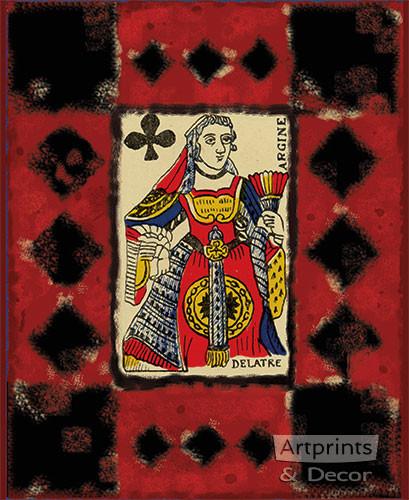Queen of Clubs - Art Print