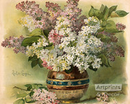 Lilacs by Paul de Longpre - Art Print