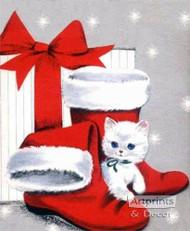 Kitten Stockings - Art Print