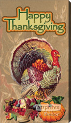 Happy Thanksgiving - Canvas Art Print