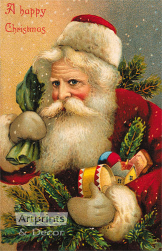A Happy Christmas - Art Print