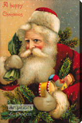 A Happy Christmas - Stretched Canvas Art Print