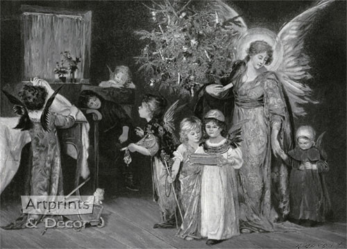 The Child's Dream of Christmas by R. Bong - Art Print