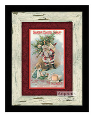 Santa Claus Soap - Framed Art Print