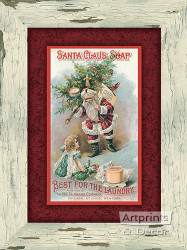 Santa Claus Soap -  Art Print