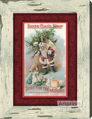 Santa Claus Soap -  Stretched Canvas Art Print