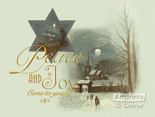Peace & Joy Come To You - Art Print