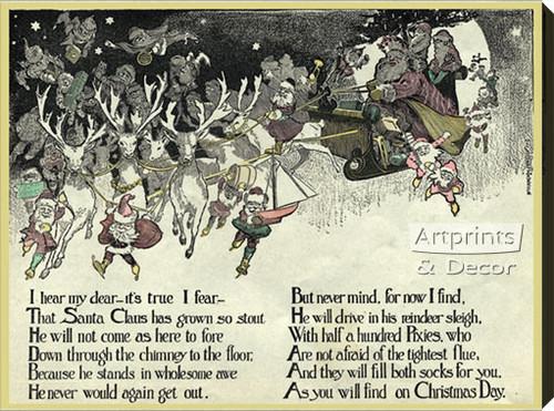 christmas poem stretched canvas art print at artprintsanddecor com