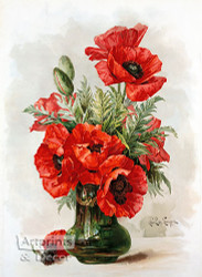 Poppies by Paul de Longpre - Art Print