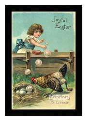 Joyful Easter - Framed Art Print