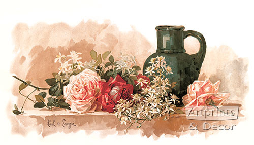 A Fragrant Decoration by Paul de Longpre - Framed Art Print