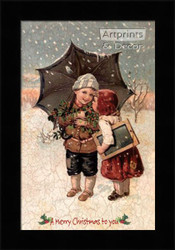 A Merry Christmas to You - Framed Art Print