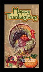 Happy Thanksgiving - Framed Art Print
