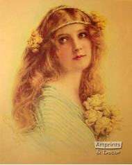 Society Girl by Alfred M. Turner - Art Print
