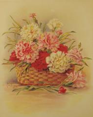 Carnations by Paul de Longpre - Framed Art Print