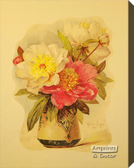 Peonies by Paul de Longpre - Stretched Canvas Art Print