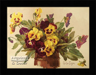 Pansies - Framed Art Print*