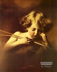 Cupid Asleep by M. B. Parkinson - Art Print
