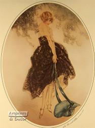 Le Bonnet Blue by Louis Icart - Art Print