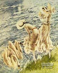 The Swans by Louis Icart - Art Print