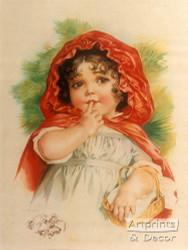 Little Red Riding Hood by Maud Humphrey - Art Print